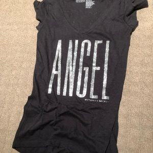 Victoria's Secret Glitter Angel Wing T-Shirt